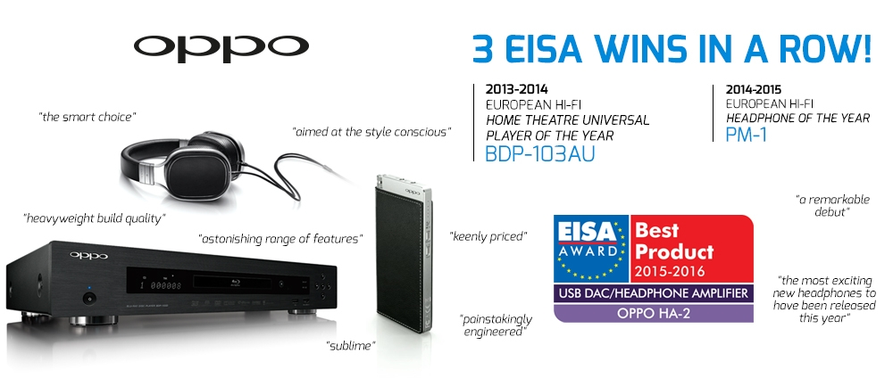 OPPO Multi EISA Award Winning Products